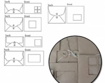 Maya Road Kraft Window Envelopes - K1460  - 5 styles - 10 pieces