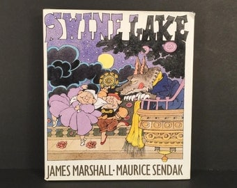 Swine Lake by James Marshall, Illustrated by Maurice Sendak, 1999 First Edition Hard Cover, Harper Collins