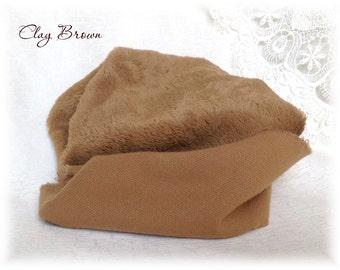 Italian viscose Fabric Clay Brown 9 mm pile 1/8 metre teddy bear making supplies plush