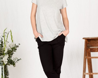 SALE!! Organic Cotton loose fitting casual pant black