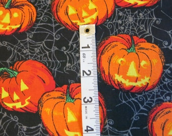 "1/2 yard of 100% cotton Halloween ""pumpkin"" fabric"