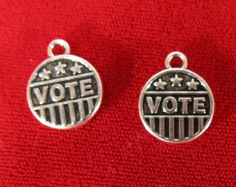 """5pc """"Vote"""" charms in silver style (BC964)"""