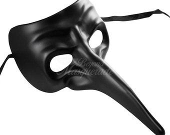 Mens Masquerade Mask, Masquerade Mask, Plague Doctor Mask, Long Nose Mask, Black Mask, Masquerade Mask Men, Mardi Gras Mask
