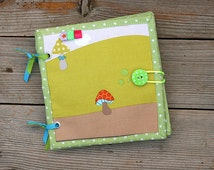 Little Jungle Quiet book, Fabric Baby Busy book, Sensory cloth book