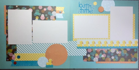Bath time 12x12 premade Pages and Kit