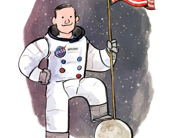 Neil Armstrong Print