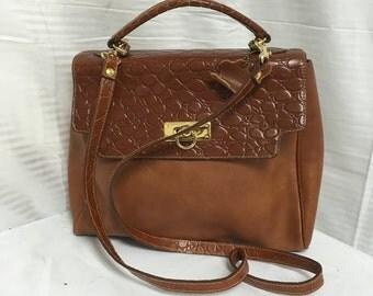 Courtenay, leather satchel, bag, brown top handle bag, shoulder bag, free US shipping