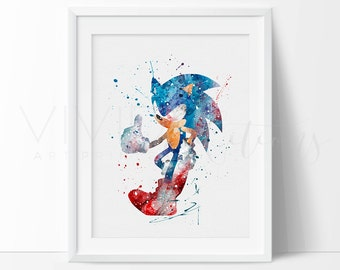 """Shop """"sonic the hedgehog"""" in Prints"""