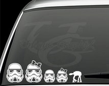 Storm Trooper family vinyl decals window stickers