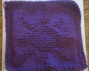 Patterned Washcloths - Sun, Butterfly