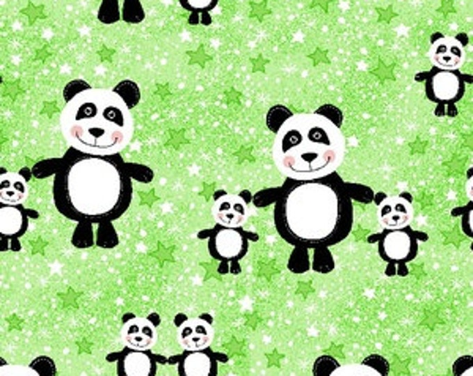 AE Nathan - Happy Pandas - Cotton Flannel Fabric