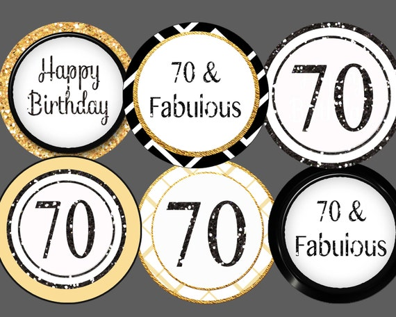70th birthday cupcake toppers 70th cupcake toppers gold