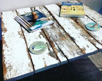 rustic modern reclaimed wood coffee table hairpin legs barn farm farmhouse