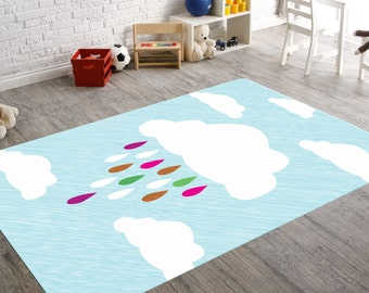 Nursery Rugs, Rugs for Nursery, Cloud Nursery Decor, Cloud Rug, Cloud Decor, Playroom Decor, Playroom Rug, Kids Room Decor, Teen Room Decor