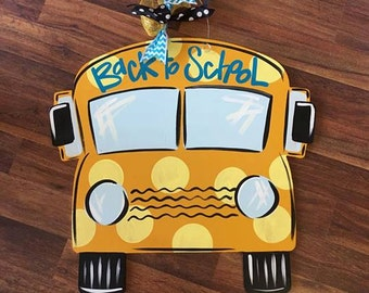 Back to School Door Hanger, School Bus, Teacher