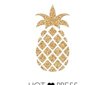 Pineapple - Iron On - Decal - Applique - DIY - Craft Supply - Canvas - Onesie - Pineapple Princess - T Shirt - Tank Top - Tote Bag - Pillow