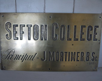 Vintage Metal Sign - 1914 college sign