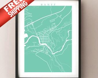 Banff Map Print