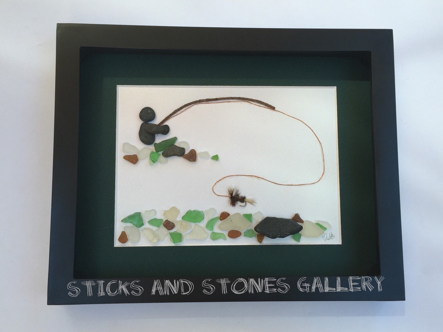 Christmas gifts for him fly fishing pebble art personalized for Fly fishing gifts