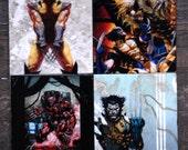 Wolverine // X-Men // Comic book // Nerd // Geek //  Superhero // Stone Tile Coasters - Set of 4