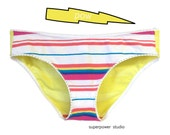 Roller Rink L Upcycled Underwear * Women's 10-12 * Low Rise Bikini * Limited Edition Handmade Lingerie