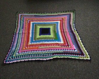 Scrapghan Granny Square crochet Lapghan throw blanket shawl wrap