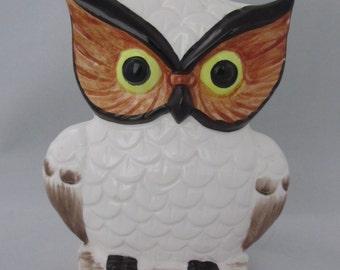 Vintage LEGO White Ceramic Owl Napkin Holder from the 70's