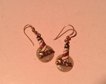 Light house earrings