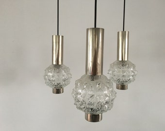 1960s pendant light with three glass globes