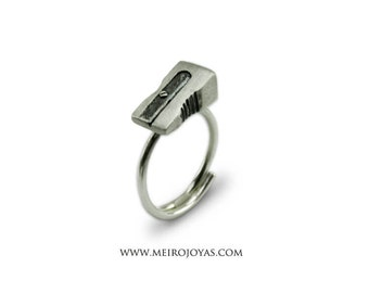 Pencil Sharpener Ring Sterling Silver / Anillo Sacapuntas Plata 925