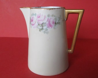 Antique Holwein Porcelain Hand-Painted  Pitcher