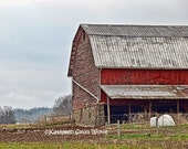 Old Barn,unique gift,New York state,gift idea,weathered old barn,wall art,home decor,Watkins Glen area,Etsy find,old red barn, working farm