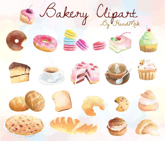 Bakery Clipart Cupcakes Clipart Sweets Dessert Clipart