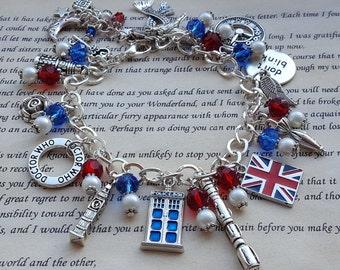 Time Traveller Bracelet, Who Travel, Phone Box Bracelet, Charm Bracelet, Fashion Bracelet, Statement Bracelet