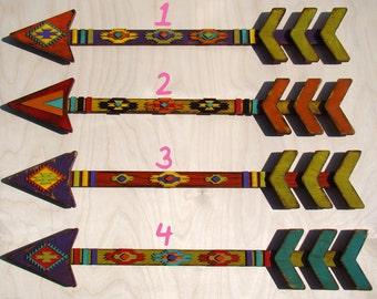 Wooden Arrow - Vintage Arrow - Rustic Southwestern Indian Arrow - Native American Arrow - Southwest - Distressed - Arrowhead -Wall Decor