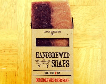 Beer Soap - Black and Tan Homebrewed Beer Soap: Fathers Day, Party Favors, Handmade Soap, Gifts for Him, Beer Lover, St. Patricks Day