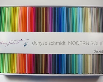 Modern Solids - Denyse Schmidt - FreeSpirit - 75 Pieces - Fat Quarter Collection - BOXFQDS.MODRN