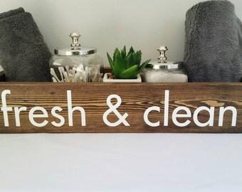 Fresh and Clean Bathroom Organization, Rustic Bathroom Accessories, Rustic Bathroom Decor, Bathroom Caddy, Farmhouse Bathroom Decor, Wood