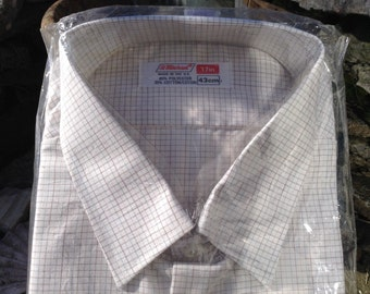 "St. Michael Gents Polycotton Shirt - 17"" - Regular - Vintage - Unworn - Free UK Postage"
