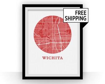 Wichita Map Print - City Map Poster