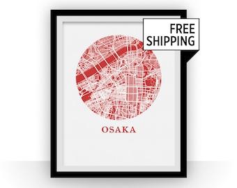 Osaka Map Print - City Map Poster