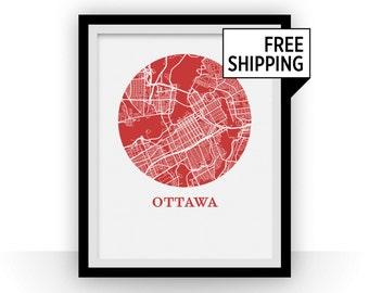 Ottawa Map Print - City Map Poster