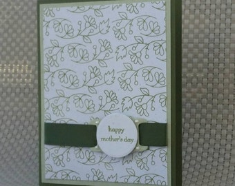 Mother's Day Card Made With 100% Recycled Paper - Green