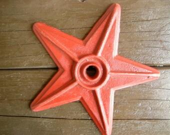 star of Texas-red star-western decor-ranch decor-art-craft-