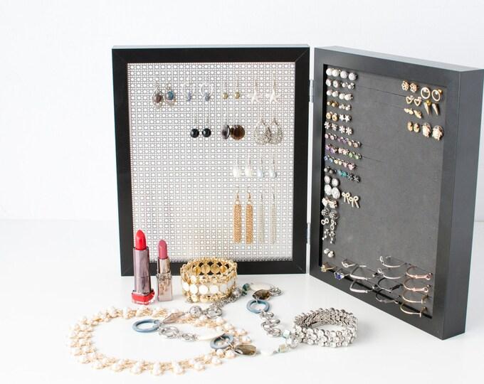 Earring Organizer - 8x10 Black Frames - Jewelry Organizer