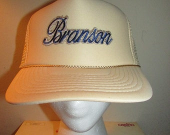 Dead Stock Vintage Branson Trucker Snapback cap 80s swag Nissun