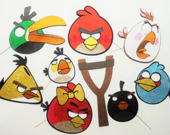 ANGRY BIRDS Photo Booth Party Props