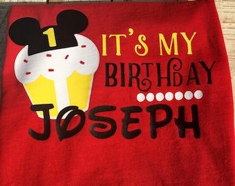 Mouse Birthday Shirt - Mouse Cupcake Birthday