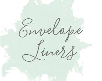 Envelope Liners; Printable or set of 25