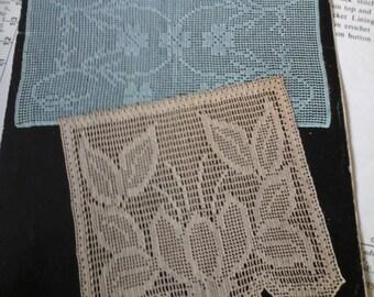 vintage filet crochet pattern